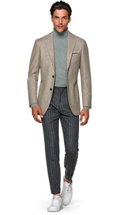 Havana Light Brown Plain Jacket