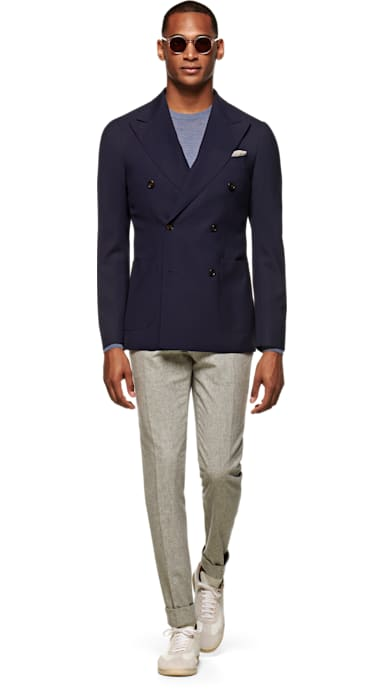 Havana Jacket Navy Plain