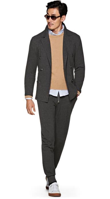 Dark Grey Knitted Jacket