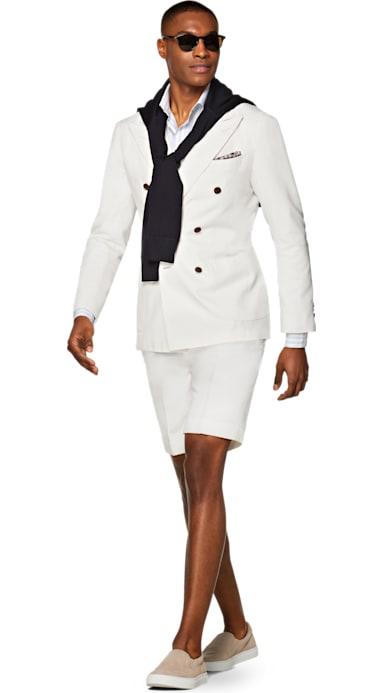 Jort Off White Plain Suit