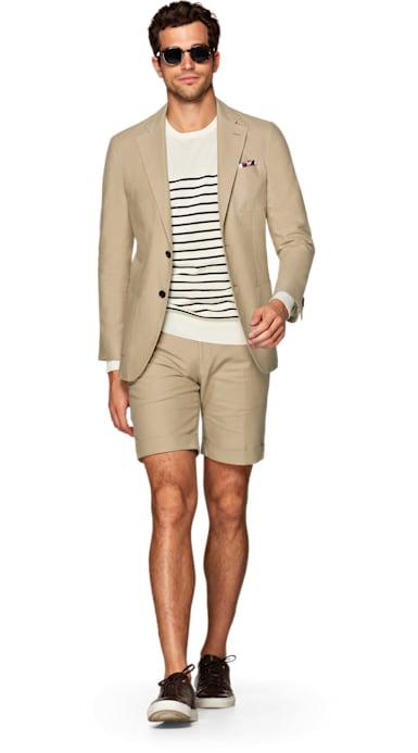 Jort Light Brown Plain Suit