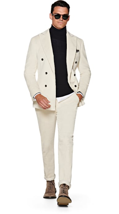 Havana Off White Plain Suit