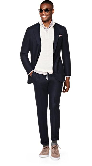 Havana Navy Plain Suit