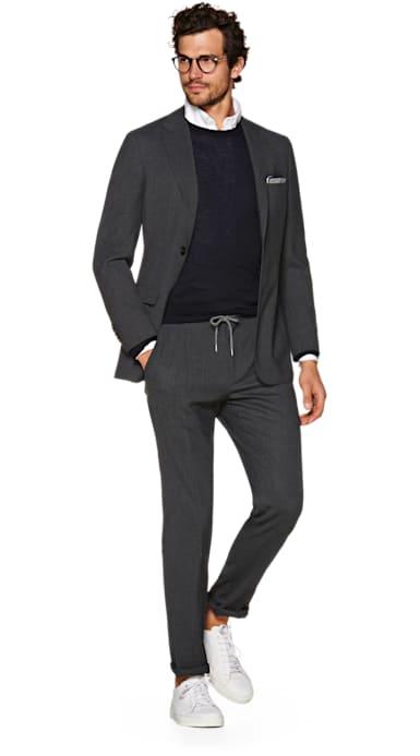 Havana Grey Plain Suit