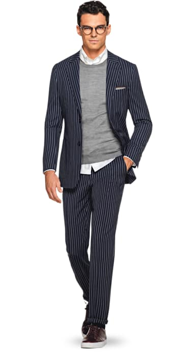 Havana Blue Stripe Suit