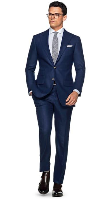 Washington Blue Plain Suit