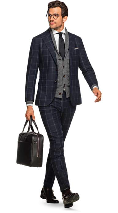 Jort Navy Windowpane