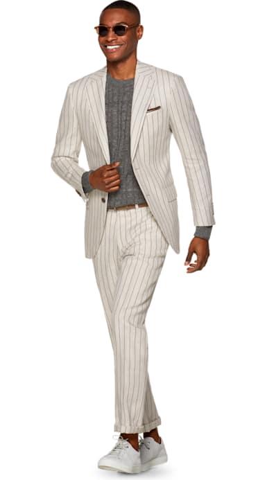 Lazio Light Brown Stripe