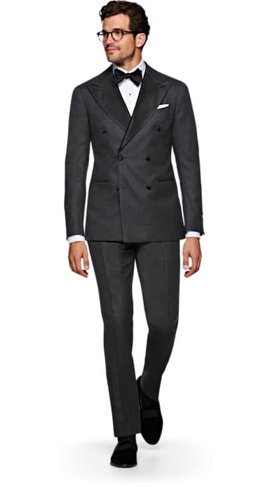 Havana Grey Plain Tuxedo
