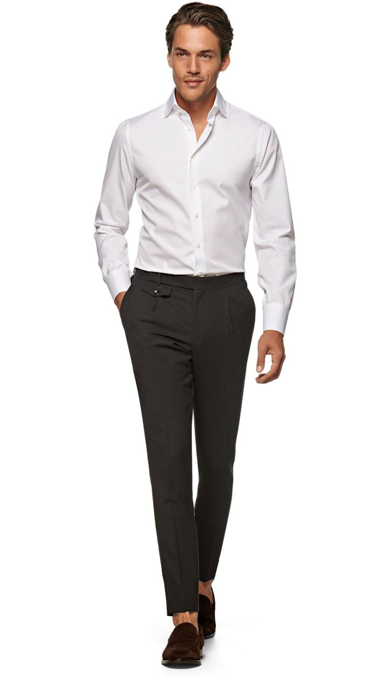 Jort White Sea Island Cotton Shirt Single Cuff Sh118 J Suitsupply