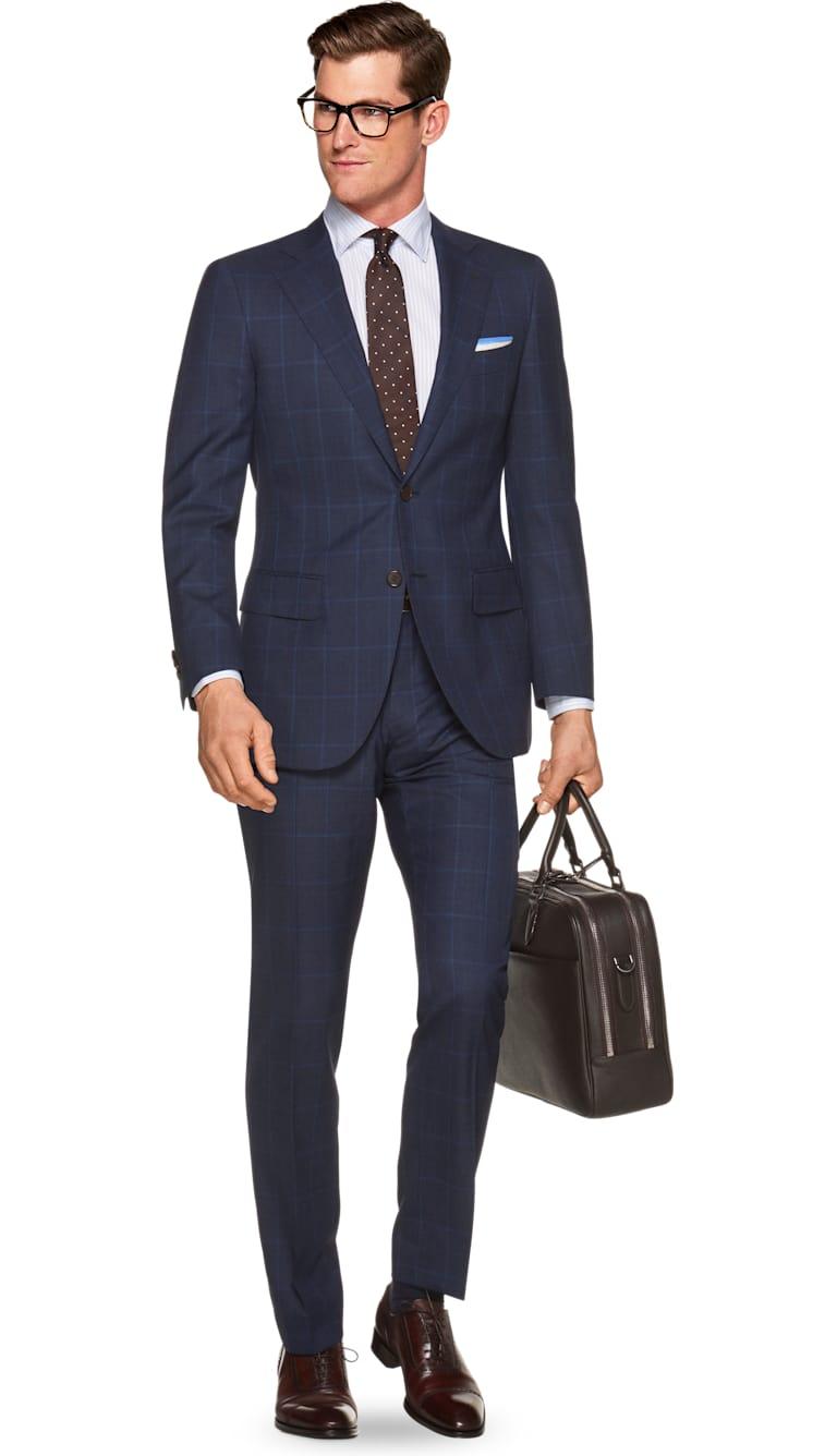 abc99ed40d65 Suit Blue Check Lazio P5459i | Suitsupply Online Store