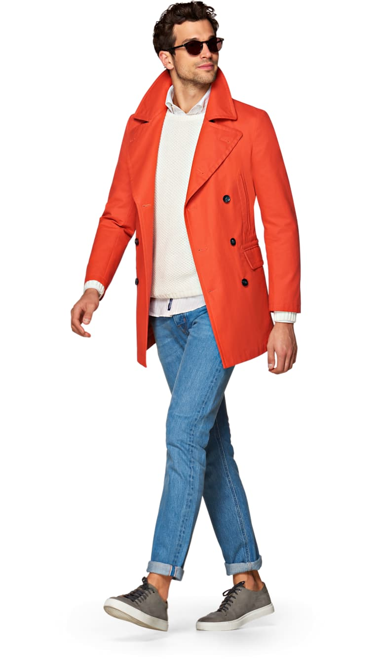 Jort Orange Raincoat by Suitsupply