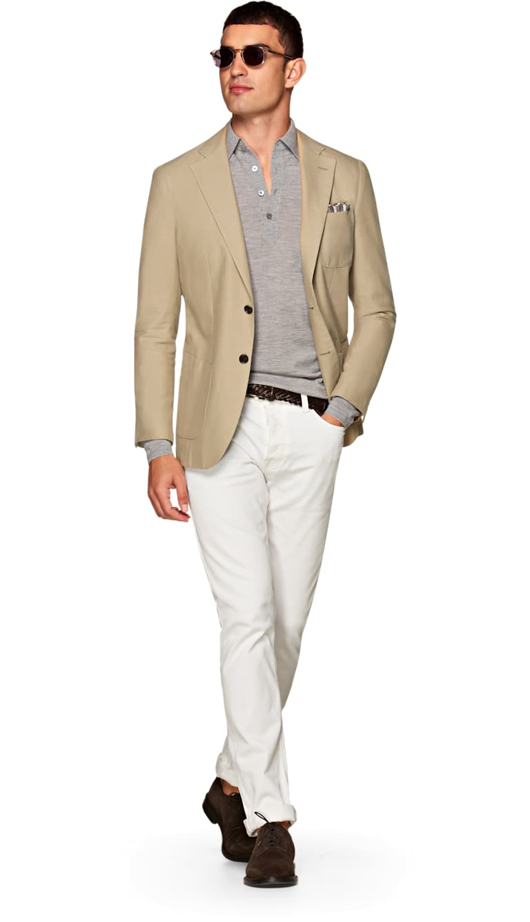 Jort Light Brown Plain by Suitsupply