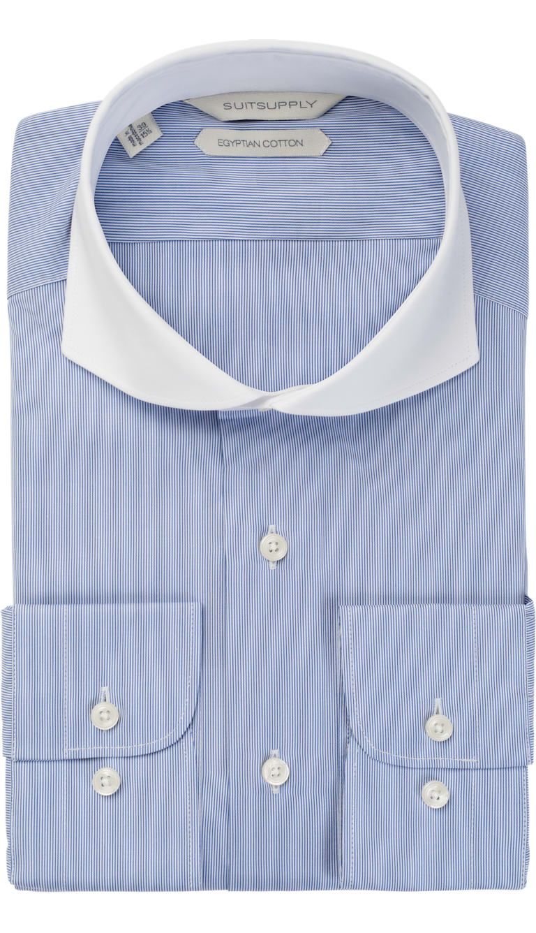 Blue Stripe Shirt by Suitsupply