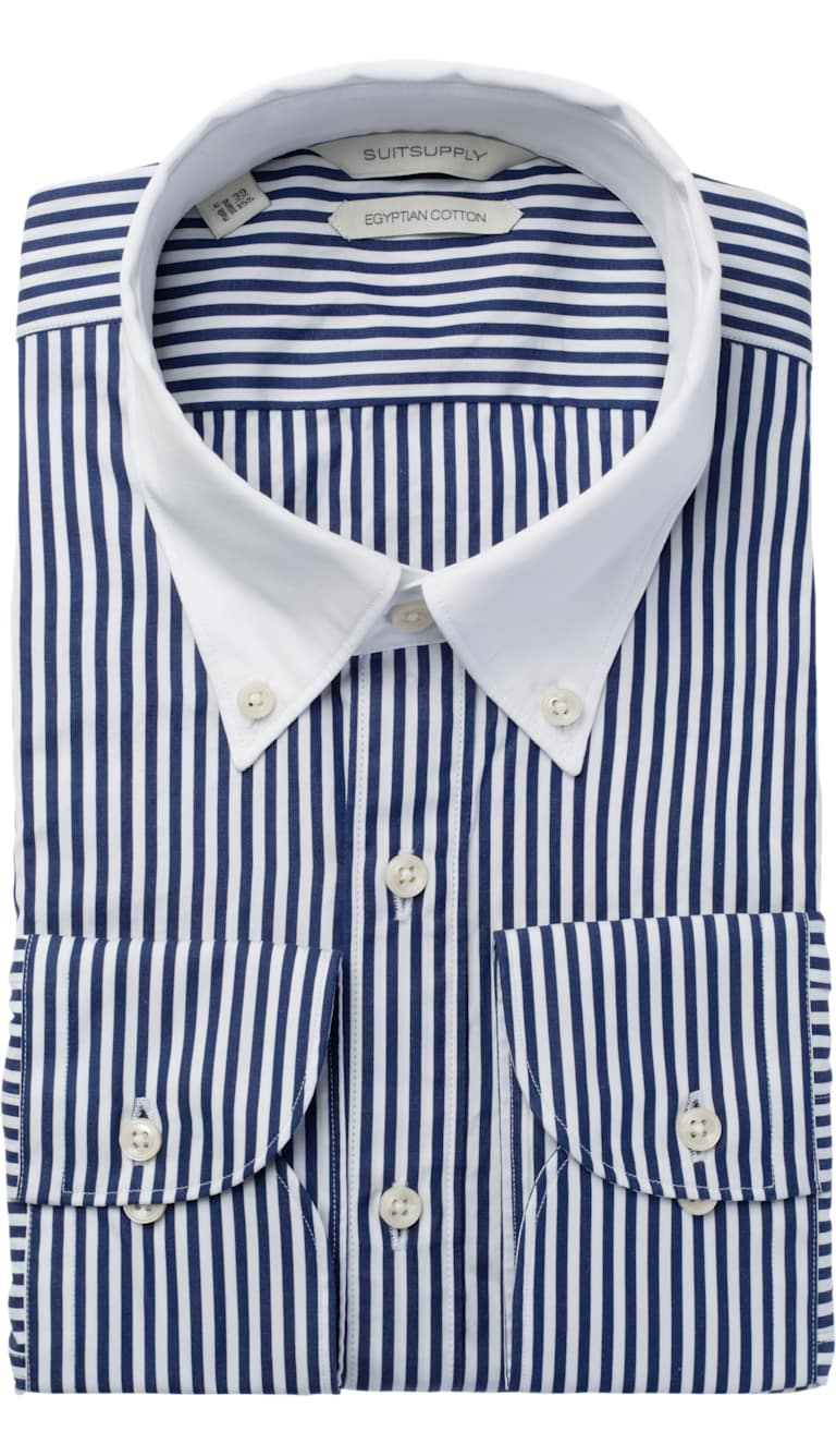 Navy Stripe Shirt by Suitsupply