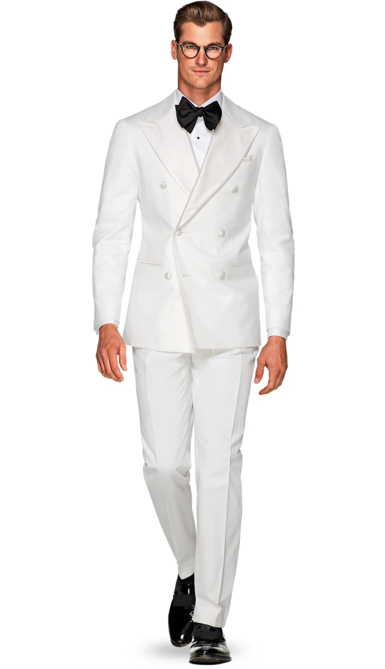 Jort White Plain Tuxedo by Suitsupply