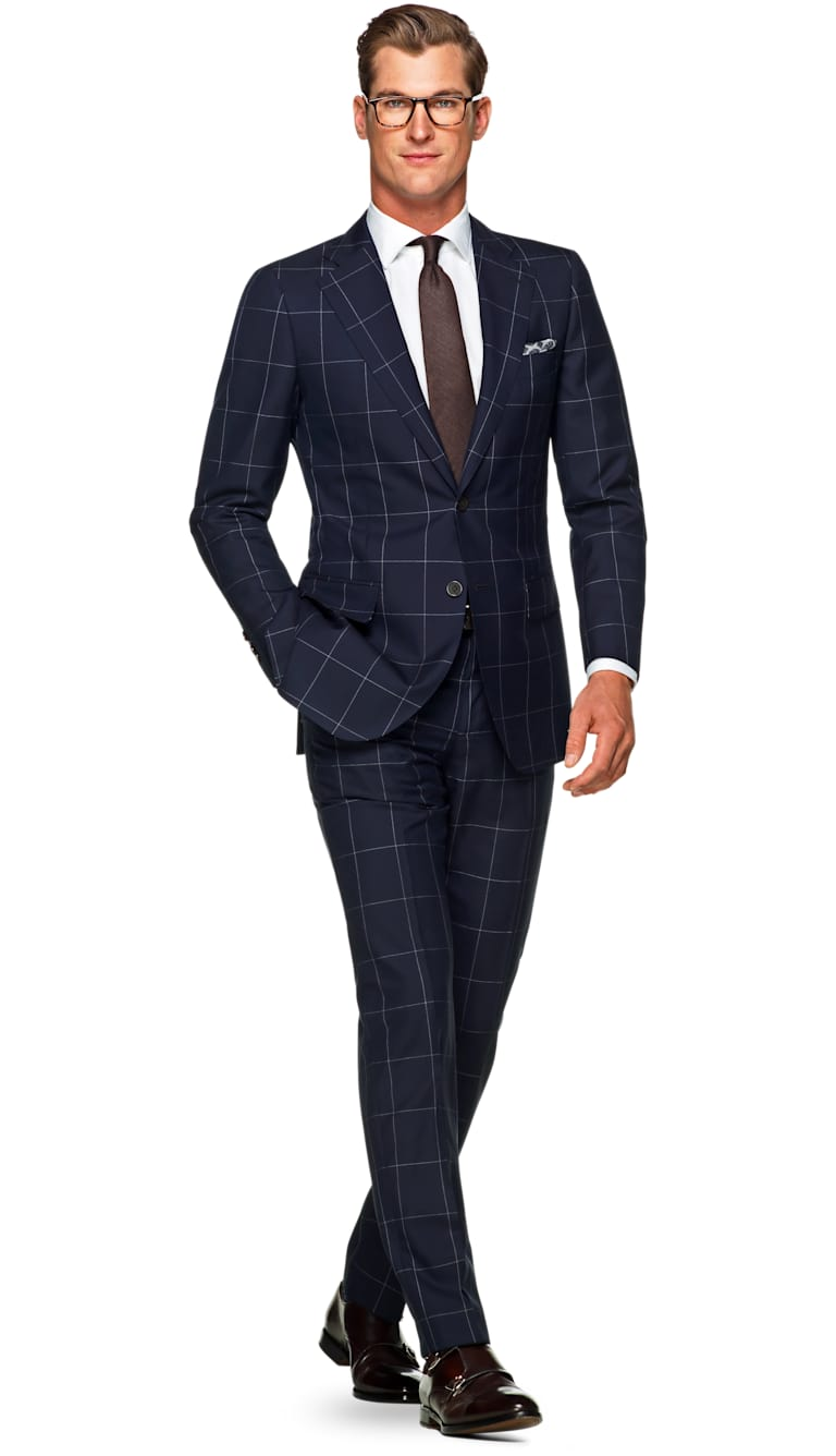 Lazio Navy Check by Suitsupply
