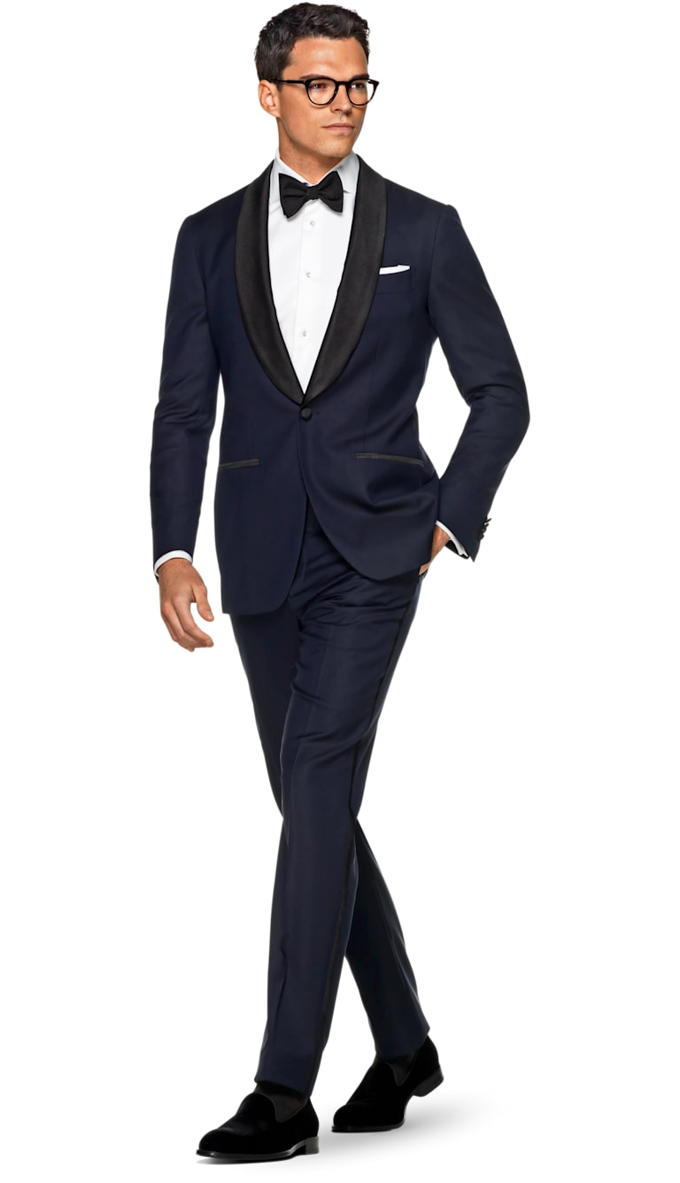 Havana Blue Plain Tuxedo by Suitsupply