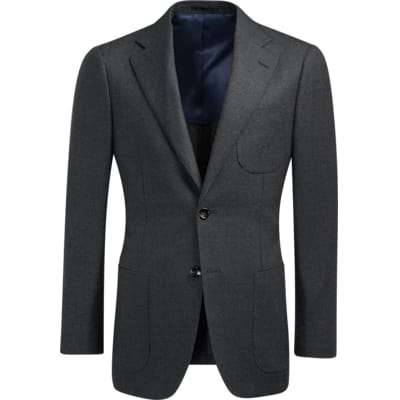 Jacket_Grey_Plain_Havana_C1063I