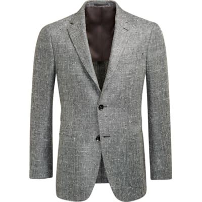 Jacket_Grey_Plain_Havana_C1204I