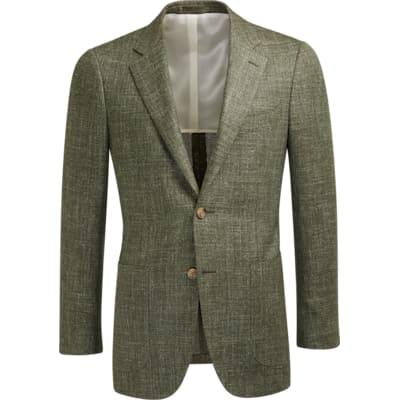 Jacket_Green_Plain_Havana_C1208I