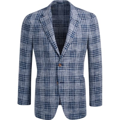 Jacket_Blue_Check_Havana_C1220I