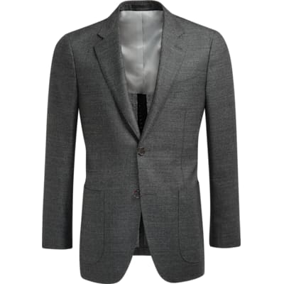 Jacket_Grey_Plain_Havana_C1225I