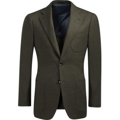 Jacket_Green_Plain_Havana_C1258I