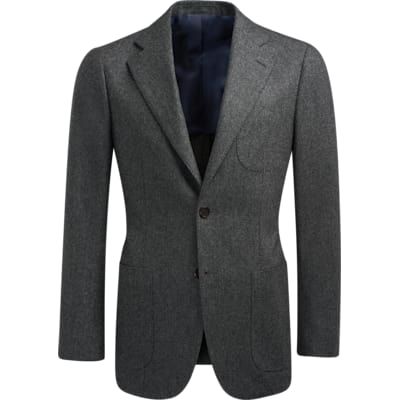 Jacket_Grey_Plain_Havana_C1281I