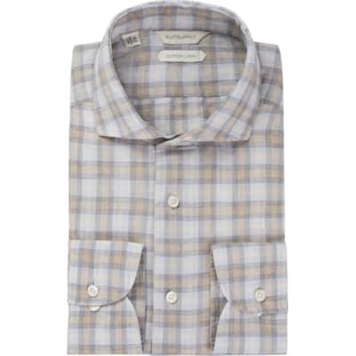 Light_Grey_Check_Shirt_Rounded_HB_Cuff_H5722U