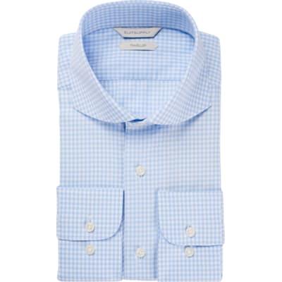 Light_Blue_Check_Traveller_Shirt_Single_Cuff_H5793U
