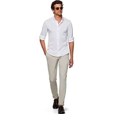 White_Knitted_Shirt_Single_Cuff_H5805U
