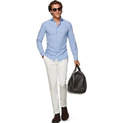 Light_Blue_Flannel_Shirt_Single_Cuff_H5812U