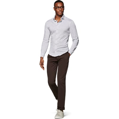 Grey_Knitted_Shirt_Single_Cuff_H5819U