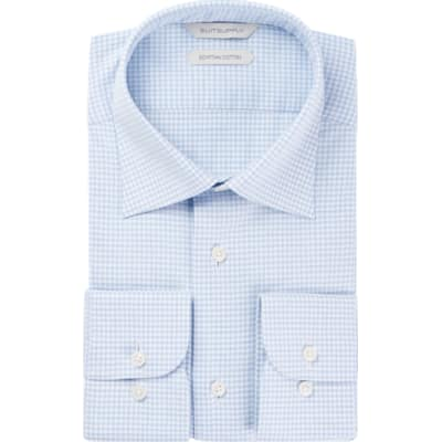 Blue_Check_Shirt_Single_Cuff_H5854U