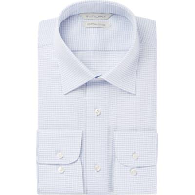 Blue_Check_Shirt_Single_Cuff_H5862U