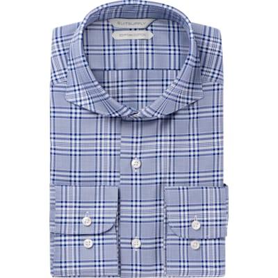 Blue_Check_Shirt_Single_Cuff_H5865U