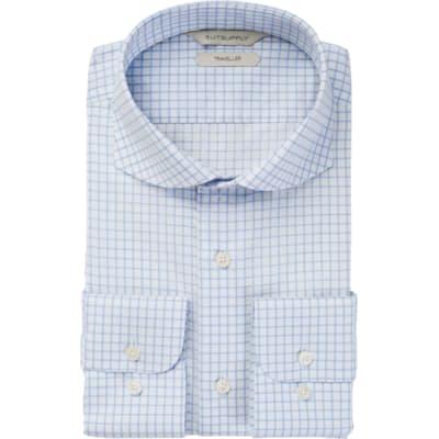 Blue_Windowpane_Traveller_Shirt_Single_Cuff_H9007U