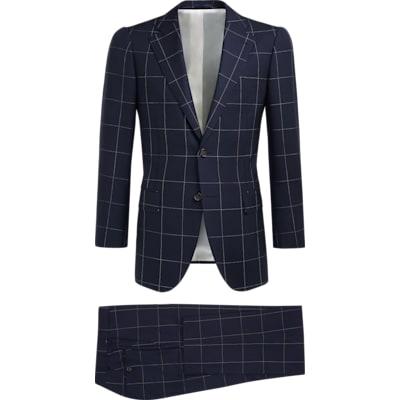 Suit_Navy_Check_Lazio_P5297I