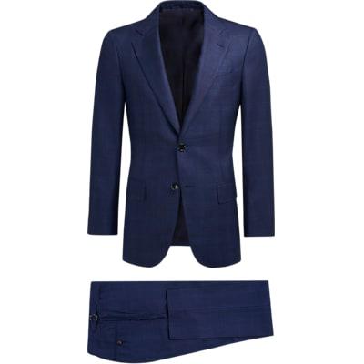 Suit_Blue_Check_La_Spalla_P5424I