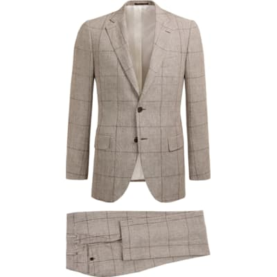 Suit_Brown_Check_Lazio_P5442I