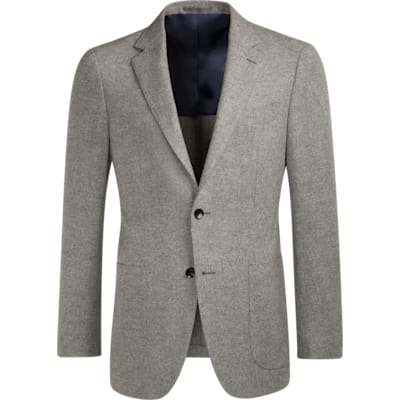 Jacket_Grey_Plain_Havana_C1072I