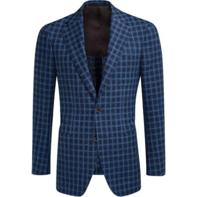 Jacket_Blue_Check_Havana_C1129I