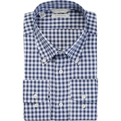 Blue_Check_Shirt_Single_Cuff_H5516U