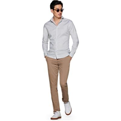 Grey_Pied_de_Poule_Shirt_Single_Cuff_H5606U