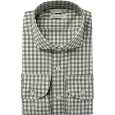 Green_Check_Shirt_Single_Cuff_H5607U
