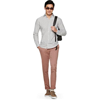 Grey_Check_Shirt_Single_Cuff_H5609U