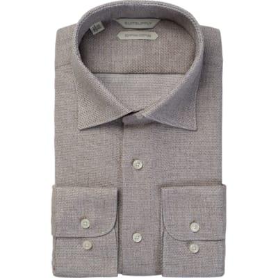 Brown_Plain_Shirt_Single_Cuff_H5618U