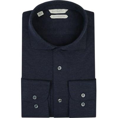 Navy_Plain_Shirt_Single_Cuff_H5619U
