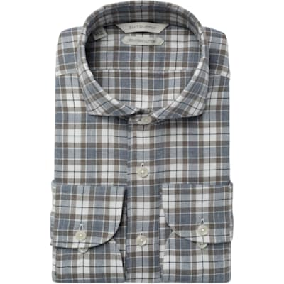 Brown_Check_Shirt_Single_Cuff_H5625U